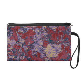 Colorful leaf and flower camouflage pattern wristlets