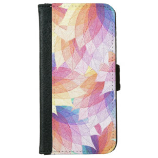Colorful Leaf Design iPhone 6 Wallet Case