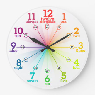 Colorful Learning Large Clock