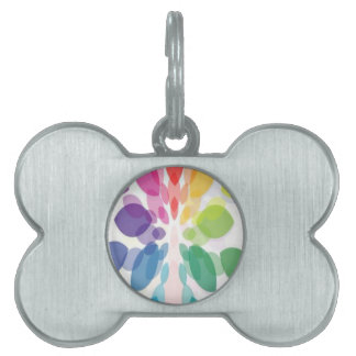 Colorful leaves background design pet ID tags