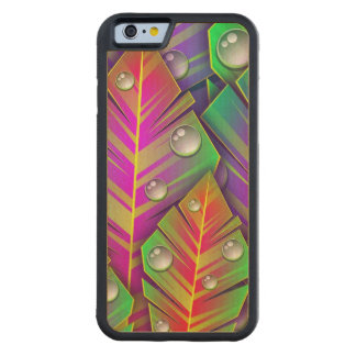 Colorful Leaves Carved Maple iPhone 6 Bumper Case