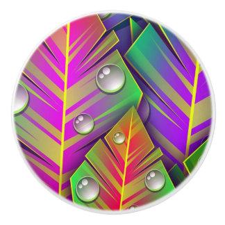Colorful  leaves ceramic knob
