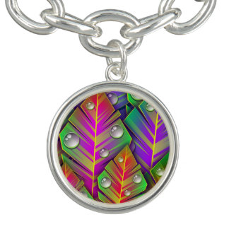 Colorful Leaves Charm Bracelets