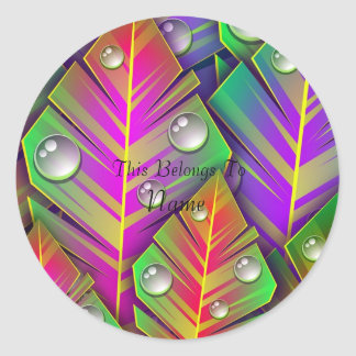 Colorful Leaves Classic Round Sticker