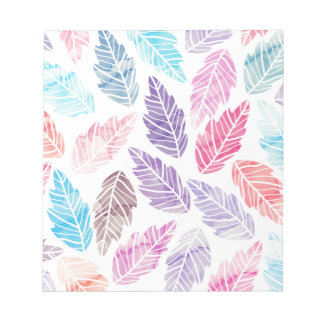 Colorful leaves notepad