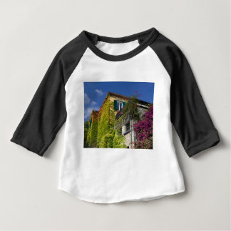 Colorful leaves on house baby T-Shirt