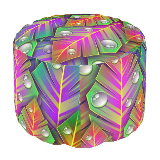 Colorful  leaves pouf