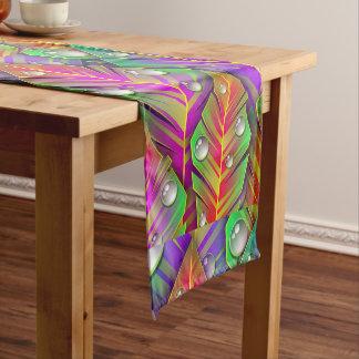 Colorful  leaves short table runner