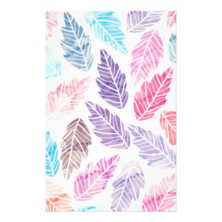 Colorful leaves stationery design