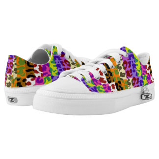 Colorful Leopard Print #26 Low-Top Sneakers