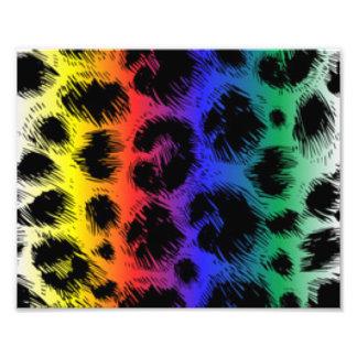 Colorful Leopard Print Pattern Design