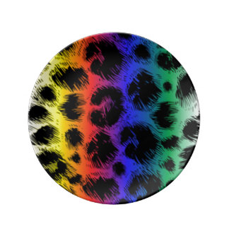 Colorful Leopard Print Pattern Design Plate