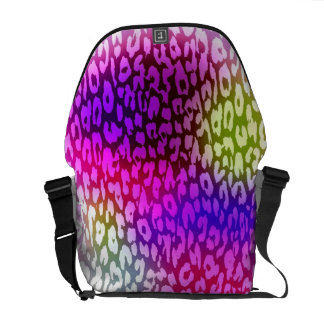 Colorful Leopard Print Skin and Modern design Courier Bag