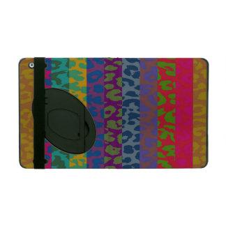 Colorful Leopard Print Stripe Pattern 2 iPad Case