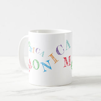 colorful letters of your name cool & fun coffee mug