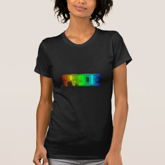 Colorful LGBT Gay Pride Rainbow Flag Typography T-Shirt