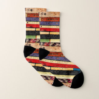 Colorful Library Books Abstract Pattern Socks 1