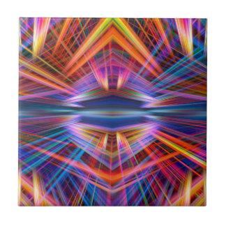 Colorful light beams pattern tile