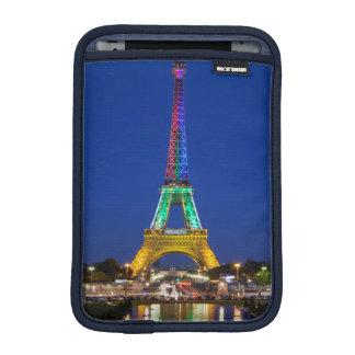 Colorful light display on the Eiffel Tower iPad Mini Sleeves