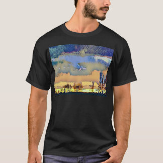 Colorful Light Fall Toned Abstract Horizon Sky T-Shirt