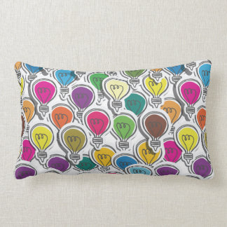 Colorful Lightbulbs throw pillows