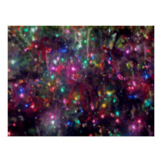 Colorful Lights Impression Poster
