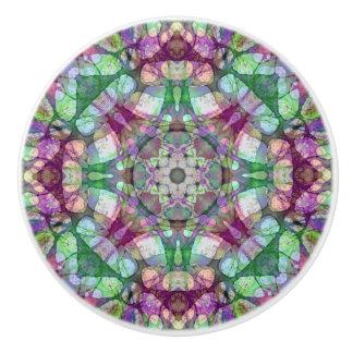 Colorful LIlac Dreams Mandala Ceramic Knob