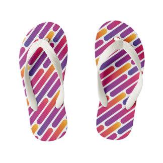Colorful Line Pattern Flip-Flop Kid's Flip Flops