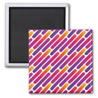 Colorful Line Pattern Magnet
