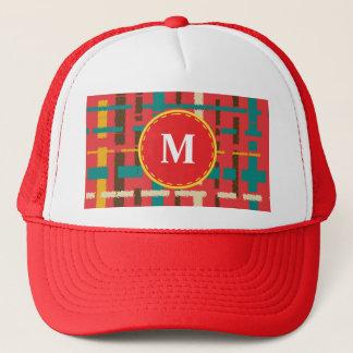 Colorful line segments trucker hat