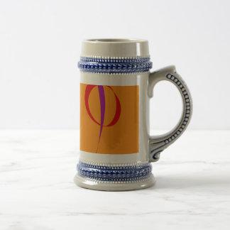 Colorful Lines against Orange Background Coffee Mug