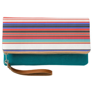 Colorful Lines Clutch