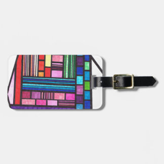 Colorful Lines Luggage Tag