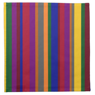 Colorful Lines on Cloth Napkin