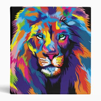 Colorful lion 3 ring binder