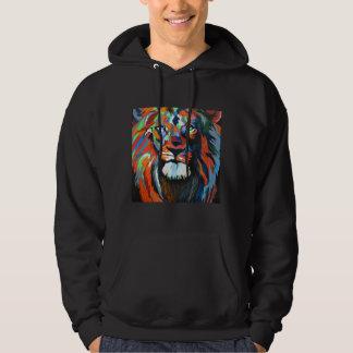 Colorful Lion Art Hoodies Sweatshirt