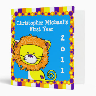 Colorful Lion Baby 3 Ring Binders