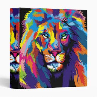 Colorful lion binder