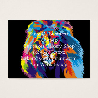 Colorful lion business card