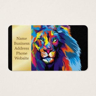 Colorful lion business card