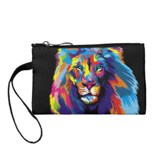 Colorful lion coin purse