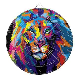 Colorful lion dartboard