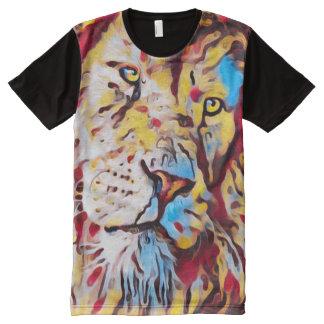 Colorful Lion Face Graffiti Art