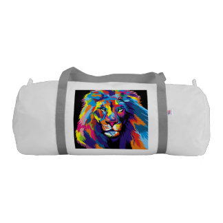 Colorful lion gym bag