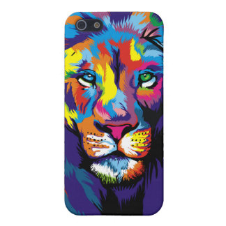 Colorful lion iPhone 5/5S covers
