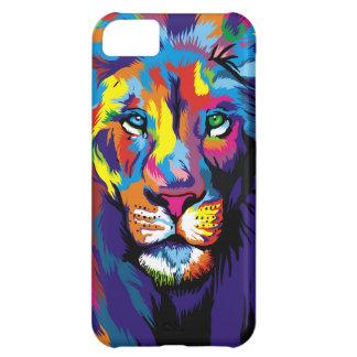 Colorful lion iPhone 5C cases