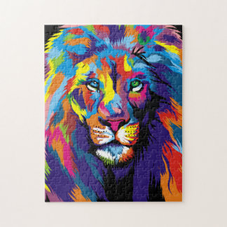 Colorful lion jigsaw puzzle