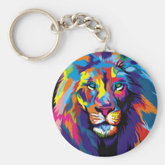 Colorful lion keychain