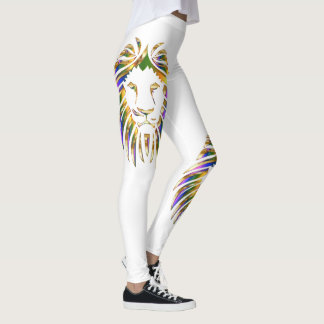 Colorful Lion Leo On Any Color Leggings