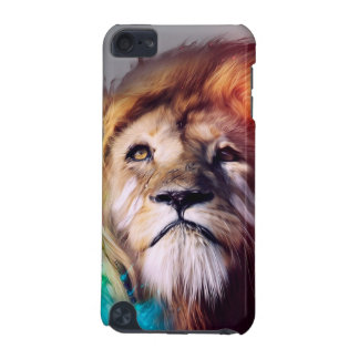 Colorful lion looking up Feathers Space Universe iPod Touch (5th Generation) Cases